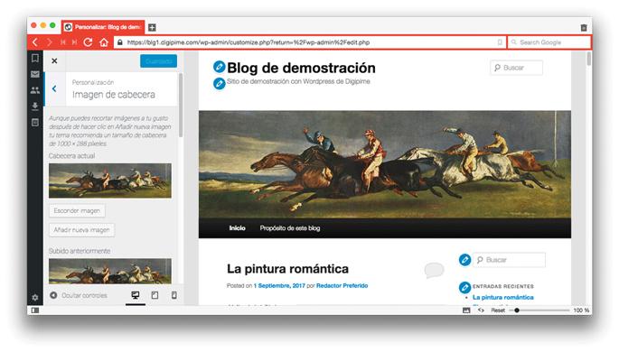 Exemple d'edició de característiques de WordPress